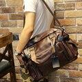Мужская мода бизнес сумка сумка старинные искусственная кожа молния посланник плеча сумку для ноутбука путешествия багажные сумки большой сумка bolsa