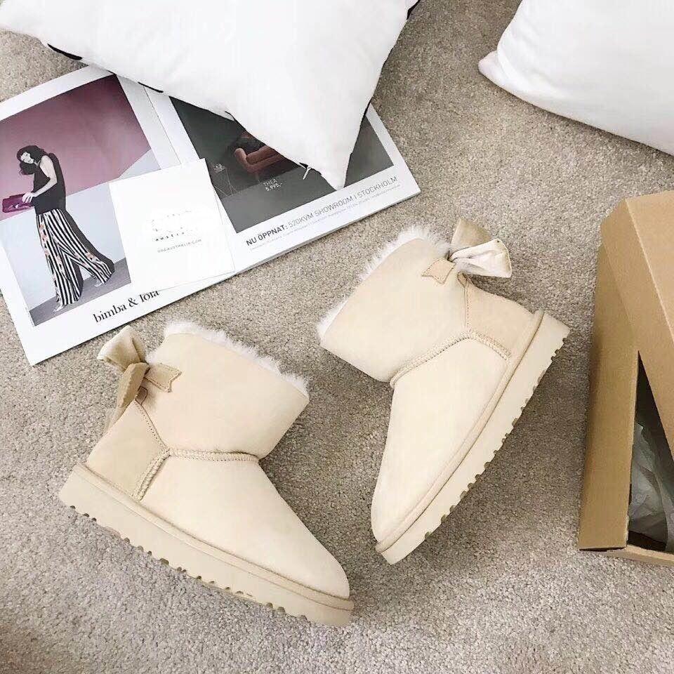Calidad Las El Piel Y Lana 5 De Botas Nieve Caliente Alta Más Entrega 100 Zapatos Colores 2019 Oveja Cómodo En Real Mujeres rqxwrT6
