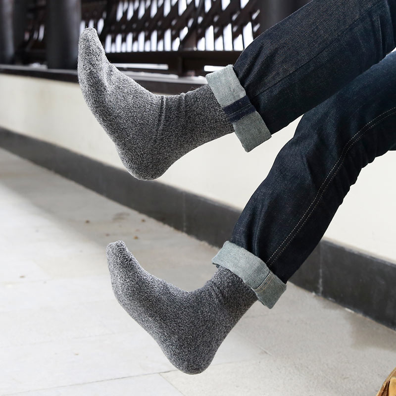 New Thick Merino Wool Socks High Quality Classic Business Brand Socks Mens Socks Autumn Winter Warm Socks For Men Big Size