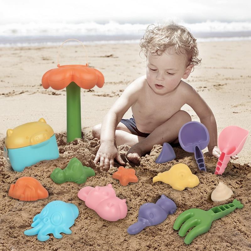 16pcs 10pcs Plastic Models Seal Starfish Cartoon Marine Organism Water Juguetes Summer Baby Bath Beach Toys Gifts For Kids