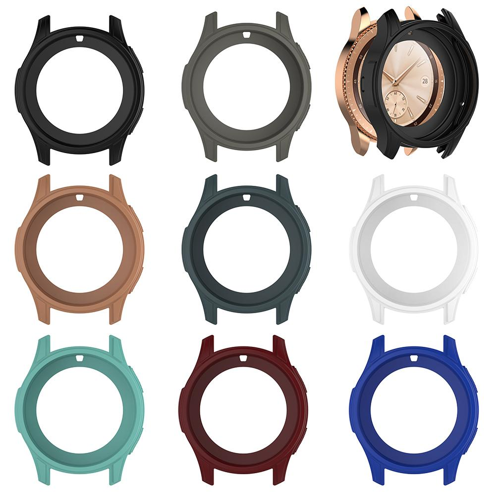 42mm Silicone Smart Watch Protective Case For Samsung Galaxy Gear S3 Smart Watch Colorful Protective Cover Watch Band