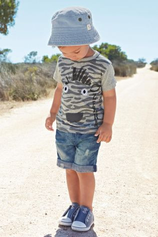 dc5ae15da48 Kids Boy Kool style Short-sleeved T-shirt+Denim Shorts 2 piece Suit ...