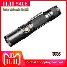 2018 neue Fenix UC35 V 2,0 CREE XP L HALLO V3 LED Taschenlampe 1000 lumen Abstand Wasserdichte Camping Taschenlampe durch 18650 batterie