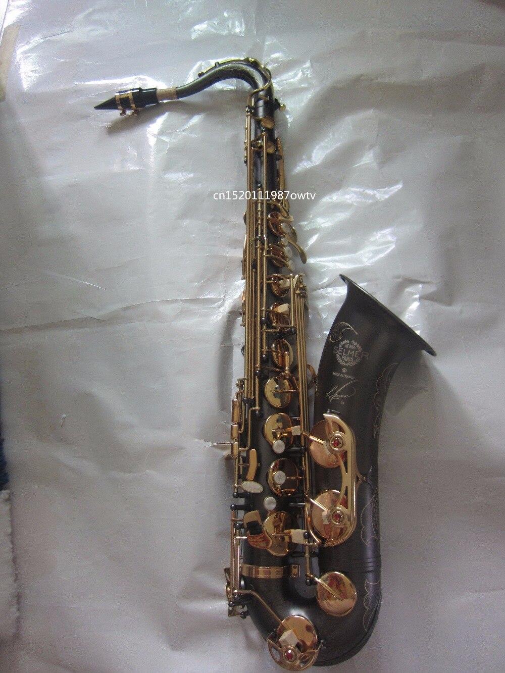 FREE SHIPPING selmer 54 tenor saxophone wind B flat original matt black for gold inscription carved tenor saxophone instrument 54 selmer b flat saxophone tenor antique copper free shipping sound quality promotions sax