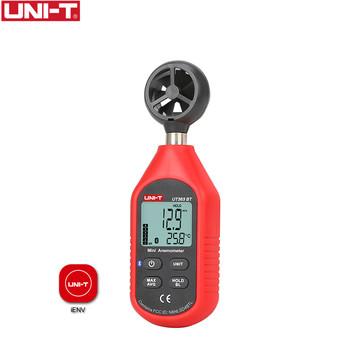 UNI-T UT363BT Mini cyfrowy anemometr Bluetooth ręczny cyfrowy tester prędkości wiatru termometr miernik wiatru ulepszony z UT363 tanie i dobre opinie