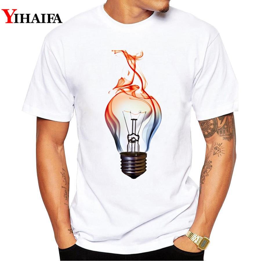 2019 Men's T-shirts Summer Fashion Light Bulb Gym Print T Shirt Funny Men Casual O-Neck Man Tees Shirt