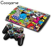Fresh Angry Bird Skins For PalyStation 3 Slim 4000 Console GTA Stickers & 2 Pads Decals For Sony Play station Slim4000