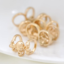 6PCS 13*8MM 24K Champagne Gold Color Brass 2 Holes Skeleton Bracelets Spacer Beads High Quality Diy Jewelry Accessories