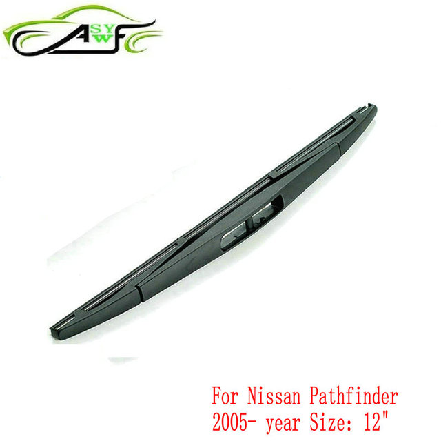 Car Rear Wiper Blades For Nissan Pathfinder From 2005 Onwards Soft Rubber Windshield Blade Size 12 300mm