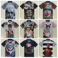 Mens moda camisas t 2015/mulheres t camisa O Pescoço Curto figura 3D Rihanna/Grumpy Cat malha blusa tshirt ropa hombre