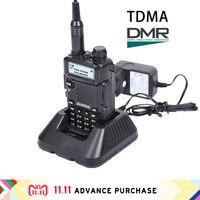 DTMA baofeng dm 5r plus dmr walkie talkie digital radio receiver handphone walkie talkie 10 km hunting intercom west ham UV