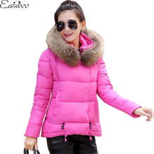 1PC Jaqueta Feminina Winter Jacket Women Fur Hooded Parka Cotton Padded Coat Women Casaco Abrigos Mujer ZZ3465