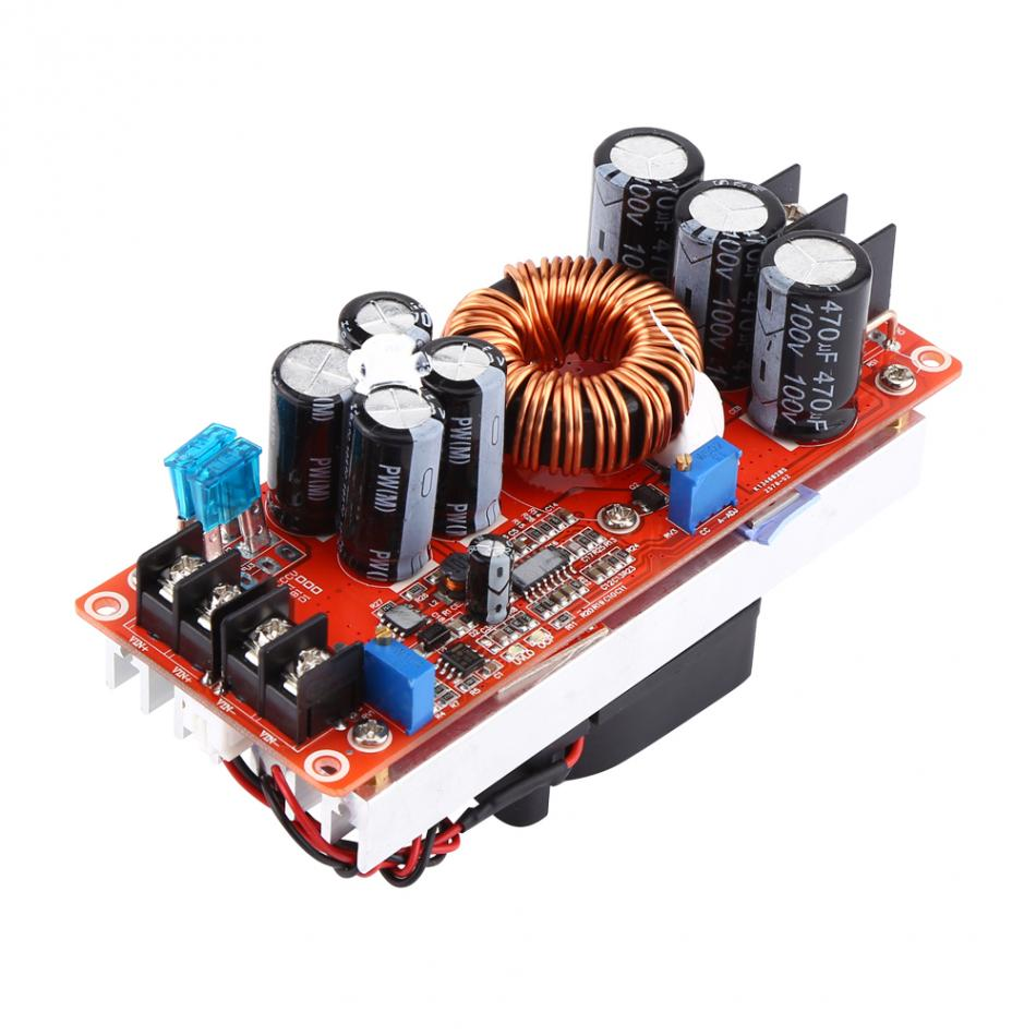 1200W 20A DC-DC Step-up Boost Converter Constant Current Boost Module LED Driver DC10-60V To DC12-83V With Cooling Fan
