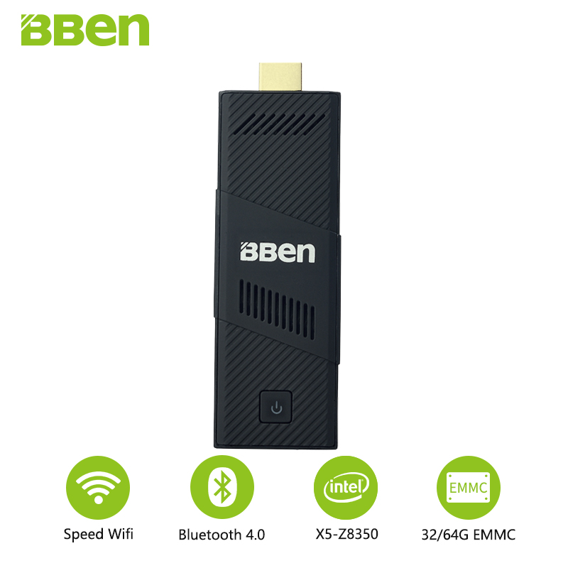 Bben Fan Intel Mini Pc Windows 10 4Gb RAM 64Gb Emmc Mini Pc Portable Computer Pc