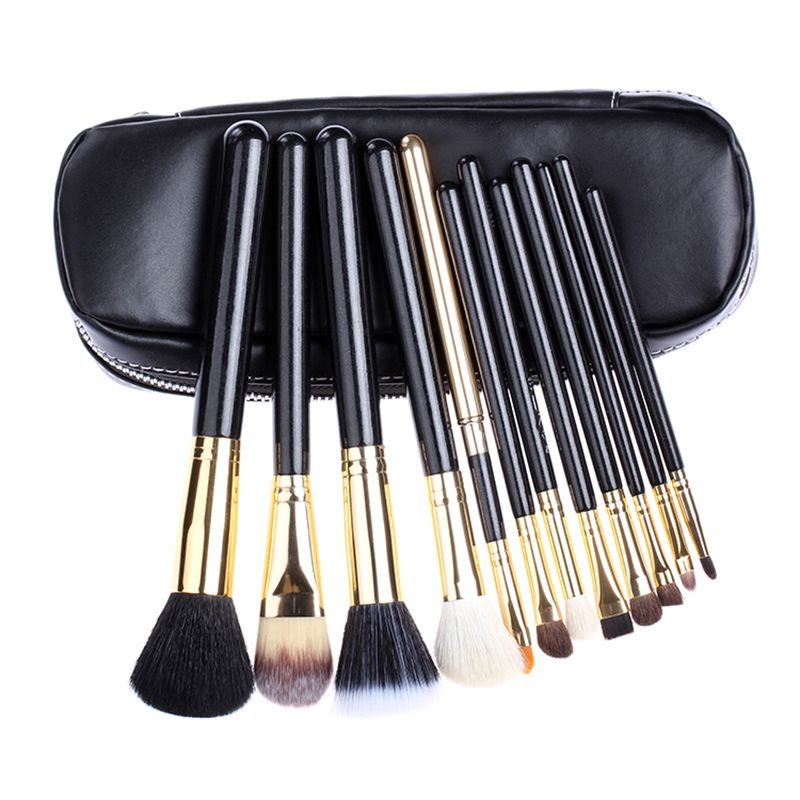 Professional  Makeup Brush tools 12 PCs Brush Cosmetic Make Up Set With 2 Case Bag Kit, Free shipping