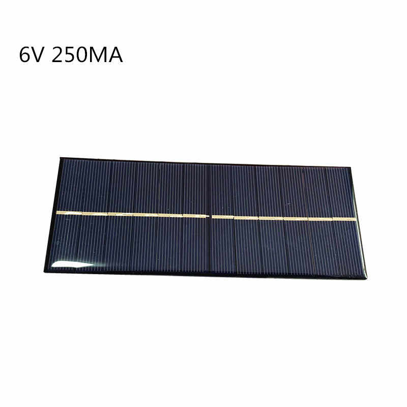 Mini Poly Solar Panel 6.5V 6V  250MA 1.5W for Solar Epoxy Assembly Flashlight Dedicated 165*65MM