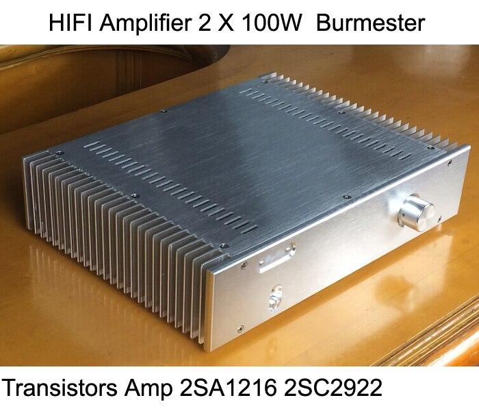 IWISTAO HIFI усилитель 2X100 Вт транзистор усилитель мощности 2SA1216 2SC2922 Burmester полностью симметричный DC в сочетании всего алюминиевого шасси