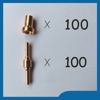 Free Shipping PT31 LG40 Consumables Plasma Electrodes Extended Manager Recommended Fit PT31 LG40 Kit