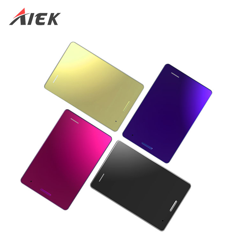New Ultra Thin AIEK M4 Card Pocket Mini Slim Simple Mobile Phone MP3 Quad Band GSM Unlocked Dual SIM Casting Card Cellphone