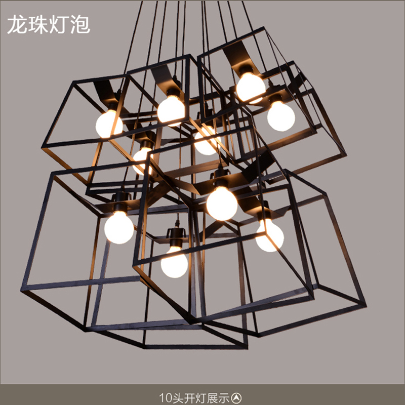 Loft Vintage pendant light Personality Wrought Iron lights Edison nordic lamp industrial cage pendant lamp lighting fixtures american loft vintage pendant light wrought iron retro hanging lamp edison nordic restaurant light industrial lighting fixtures
