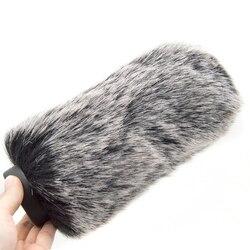 Coolvox Camera mikrofon futrzana szyba przednia futrzana osłona przeciwwiatrowa ochrona na zewnątrz wywiad Mic Cover Equipment 18cm