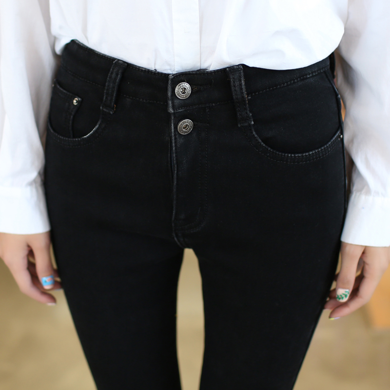 Popular High Waisted Button Jeans-Buy Cheap High Waisted Button