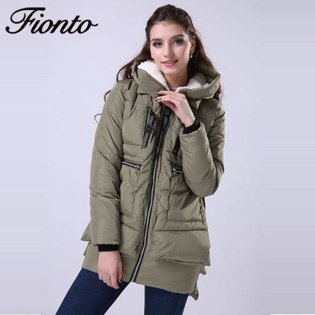 FIONTO 2017 Women Warm Winter Coat Jacket Women Parka Hoody Long ...