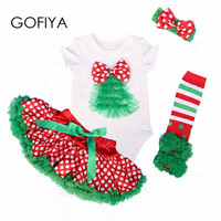 Newborn Clothes Set For Christmas Party Dress 2016 New Style Bebe Birthday Costumes Vestidos Infant Festival