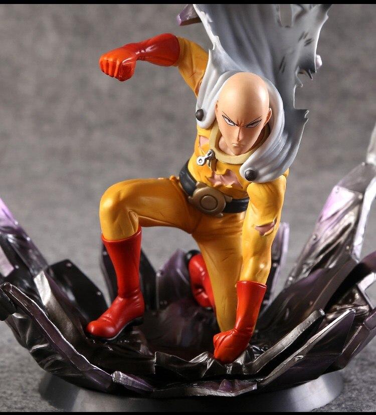 Один удар человек Сайтама 1/6 Масштаб Окрашенные рис Сайтама куклы Brinquedos Аниме ПВХ фигурку Коллекционная модель игрушки 24 см KT3408