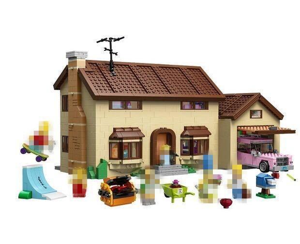 2575Pcs LEPIN 16005 the Simpsons House Simpsons family Kwik-E-Mart Set Model Building Block Bricks Compatible 71006 DIY Gift