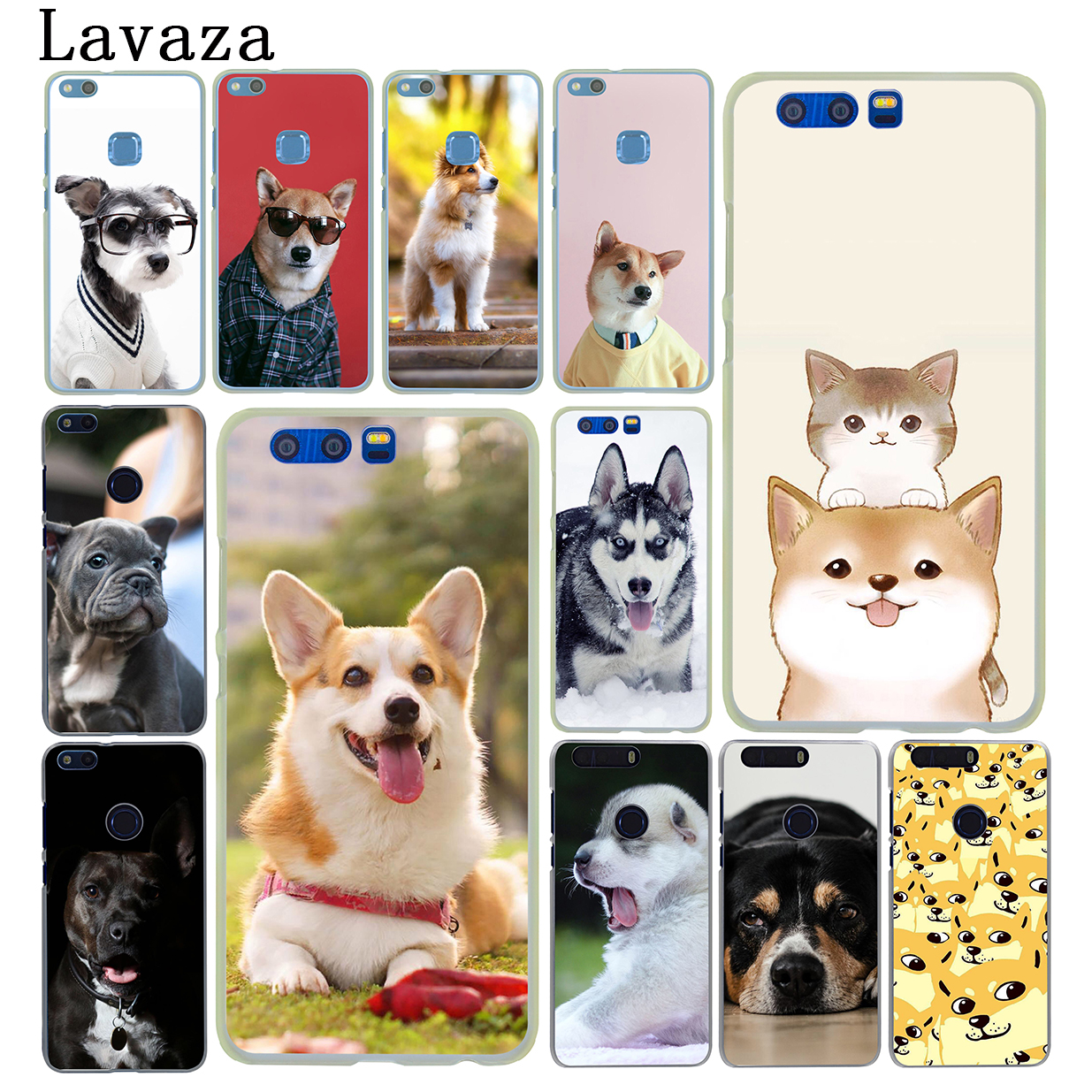 Lavaza Cute French Bulldog corgi Golden Retriever Dog Case for Huawei Y6 Y5 Y3 II Y7 2017 G7 Honor 9 8 Lite 7 7X 6 6X 6A 4C 4X
