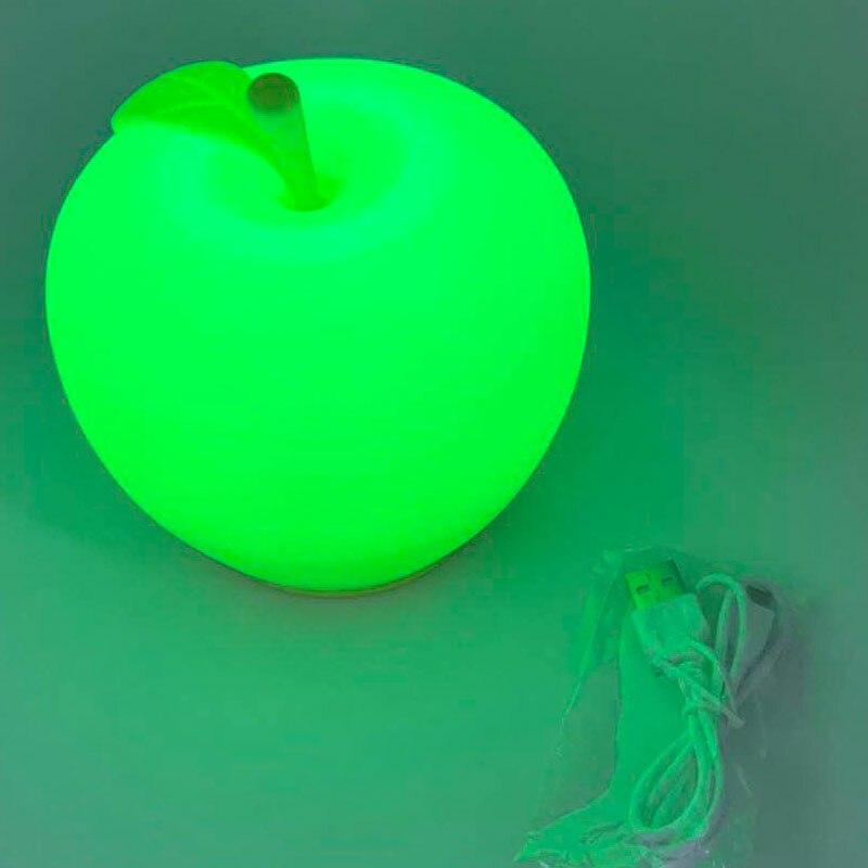 Детский светодиодный ночник usb зарядка силикагель многоцветная Лампа сенсорный изменение цвета праздник день рождения вечеринка украшение - 4