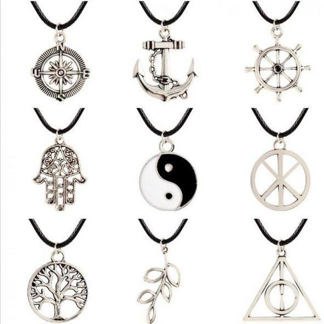 tai chi yin yang brjula ancla para amantes de la cadena de la nueva joyera de