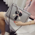New Female Bag Wholesale 2017 Summer Fashion Cool Rivet Cartoon Hand Bag Envelope Bag Single Shoulder Bag