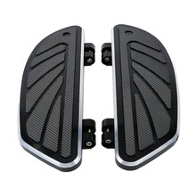 Motorcycle Airflow Rider Footboard Insert Kit Set For Harley Touring Road King Street Electra Glide FL Softail FLTR 1986-2018 цена