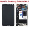 """5.7 """"preto para samsung galaxy note 3 n9005 display lcd touch screen digitador com a montagem do quadro moldura replacemet frete grátis"""