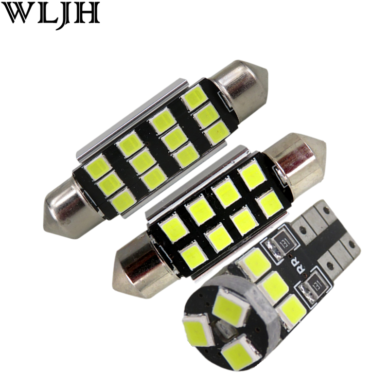 WLJH 13pcs Canbus Pure No Error LED Car lighting Light for BMW X1 E84 LED Interior light LED Kit 2010 2011 2012 2013 2014 2015 wljh 2x canbus 20w 1156 ba15s p21w led bulb 4014smd car backup reverse light lamp for bmw 228i 320i 328d 328i 335i m3 x1 x4 2015