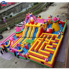 Amusement park giant inflatable fun city for rental 20m*10m air jumping castle bouncer factory direct selling inflatable castle