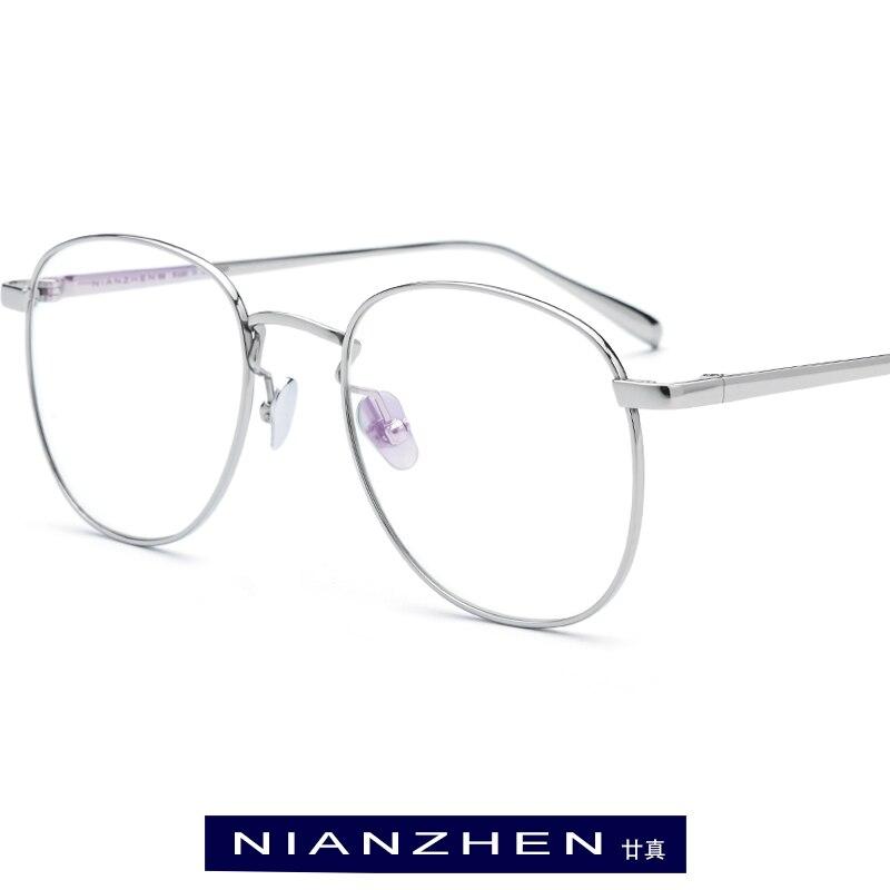 Titane pur lunettes cadre hommes rétro rond myopie optique Prescription lunettes cadres 2019 femmes rétro pilote coréen lunettes