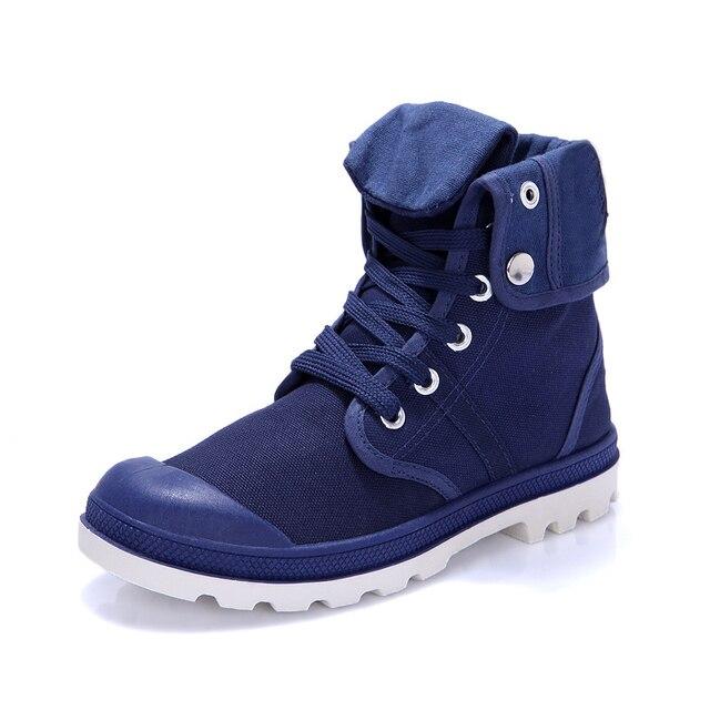 Большой размер 40 - 45 новых 2015 холст мужчины сапоги мода хлопок марка лодыжки ботинки ботинки для весна осень обуви