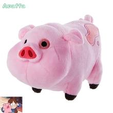 18cm Cartoon TV Film Gravity Falls Plysj Leker Kawaii Pink Pig Waddles Stuffed Toy Mini Soft Anime Dolls For Kids Bursdag Gaver
