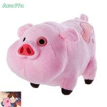 18cm Cartoon TV Movie Gravity Falls Plush Toys Kawaii Pink Pig Waddles Stuffed Toy Mini Soft Anime Dolls For Kids Birthday Gifts