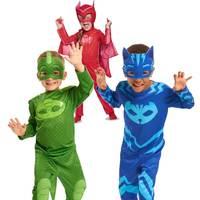 PJ S Children S Mask Cosplay Suit Kids Boys Owlette Gekko Catboy Jumpsuit With Mask Cloak