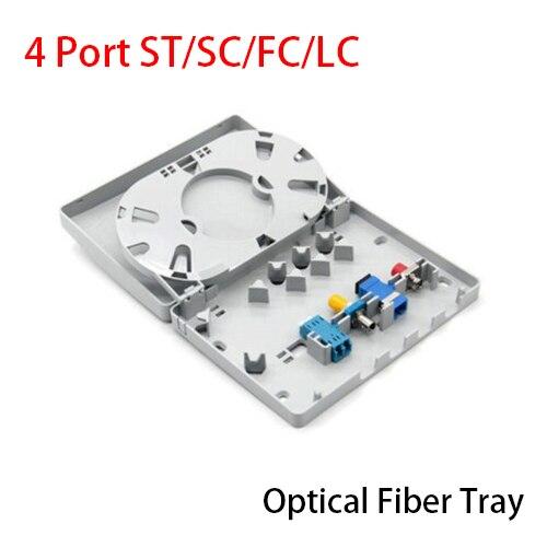 4 Порты и разъёмы ST/SC/FC/LC волокна сращивания лоток волоконно-оптической распределительной коробки