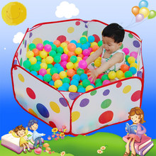 120cm children's portable outdoor games toy tent house indoor fun marine ball pool outdoor marine ball pit pool children's toys(China)