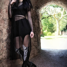 45 Punk Devil Fashion Personality Women Pants Gothic Style Black Sexy Slim-Fitting Pencil legging