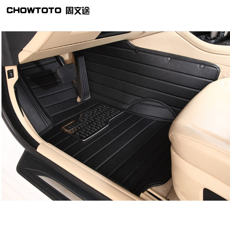 CHOWTOTO AA Carpets For Honda Accord Civic CRV City HRV Vezel Crosstour Fit Spirior Crider Durable Waterproof Leather Floor Mats