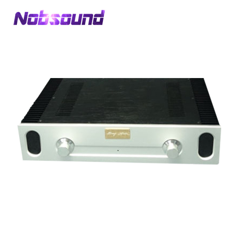Nobsound Aluminum Enclosure Power Amplifier Chassis DIY Case W430*H90*D308 mm nobsound hi end audio noise power filter ac line conditioner power purifier universal sockets full aluminum chassis
