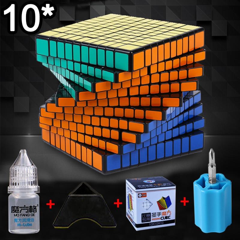 Nouveau ShengShou 10x10x10 10.2 CM Cube vitesse Cube 5 pièces costume professionnel Cubo Magico Puzzle Cube jouets pour enfants adulte cadeau