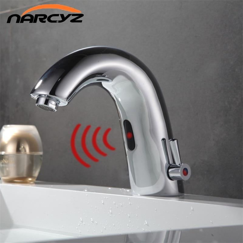 US $66.72 21% di SCONTO|DC Batteria A Secco Automatico inflared Sensore  Rubinetto per Cucina bagno Acqua di Rubinetto miscelatore Lavello risparmio  ...